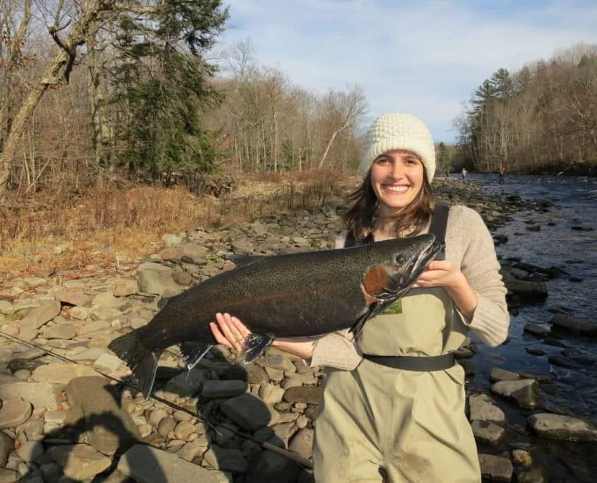 Oswego River salmon