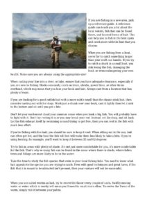 fishing article