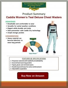 Caddis Women's Teal Deluxe Chest Waders