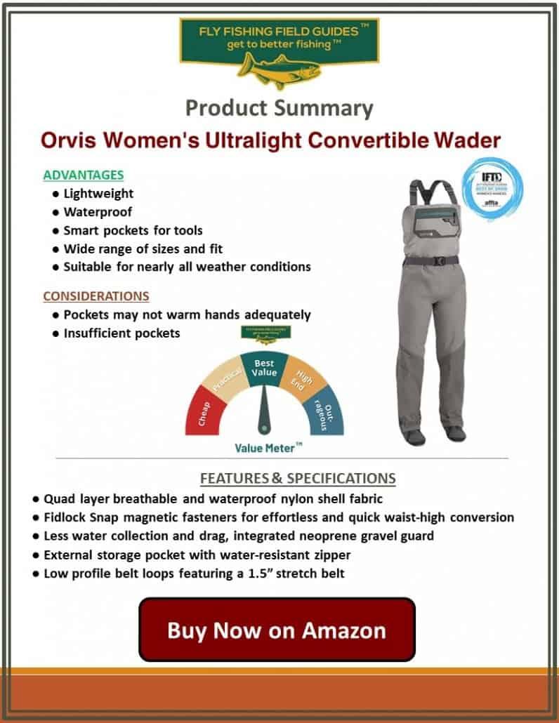 Orvis Women's Ultralight Convertible Wader