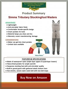 Simms Tributary Stockingfoot Waders for Women