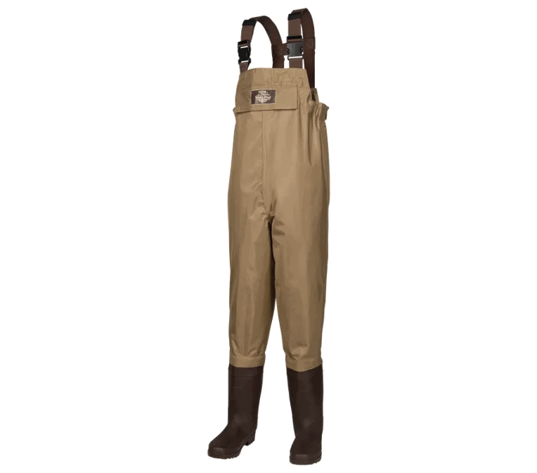 White River Fly Shop Three Fork Lug Sole Chest Waders for Kids